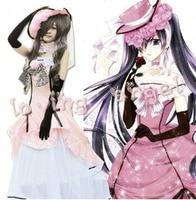 Black Butler Kuroshitsuji Ciel Phantomhive Pink Dress Cosplay Party Costume Customized Size