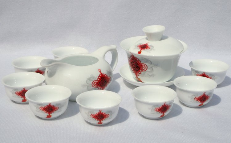 10 шт. умный Китай Чайный Сервиз керамика Teaset Китайский Завязывая A3TM21 бесплатная