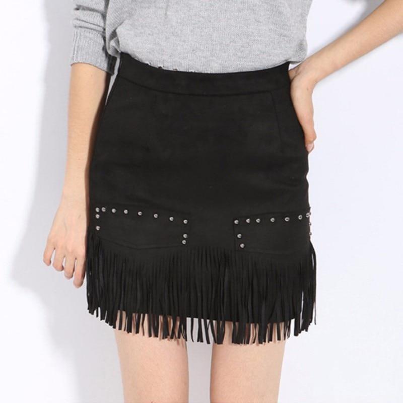 Fringe Leather Mini Skirt Promotion-Shop for Promotional Fringe ...