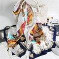 100% Натурального Шелка Кисточкой Печатных Женщин Зимние Шарфы Люксовый Бренд Теплый Écharpe 180x65 см Атласные Платки Бандана Высокое Qulity Хиджаб S7