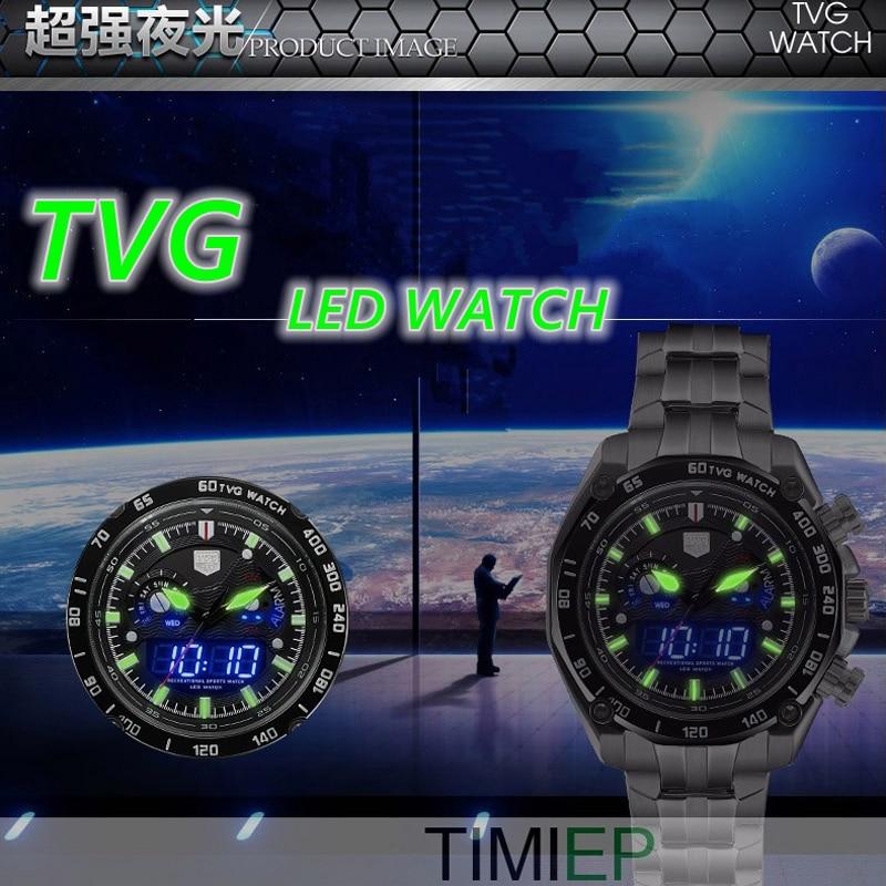 TVG Baru mewah fesyen pelbagai fungsi keluli kuarza tentera tentera - Jam tangan lelaki - Foto 2