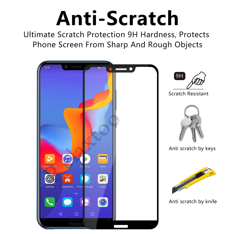Image 3 - 2pcs/lot On Honor Play Glass For Huawei Honor Play 6.3 COR L29 Tempered Glas Hauwei Hono Play Protective Film Screen Protector-in Phone Screen Protectors from Cellphones & Telecommunications