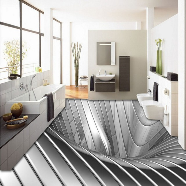 Aesthetic Silver Metallic 3D wallpaper mural Background Wall hotel ...