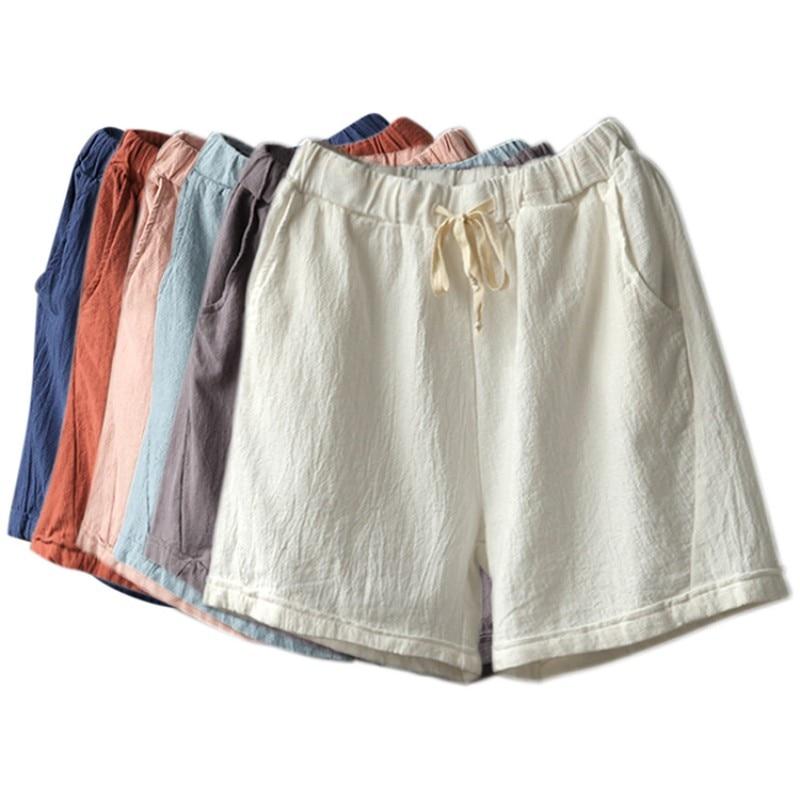 2017 Summer   Shorts   Women Bottoms Comfortable Breathable Cotton Linen Stripe Leisure Fashion   Shorts