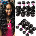 Peruvian Loose Wave 7A Unprocessed Human Hair Weave Bundles 5 Bundles Peruvian Virgin Hair Loose Wave Cheap Peruvian Hair Weave