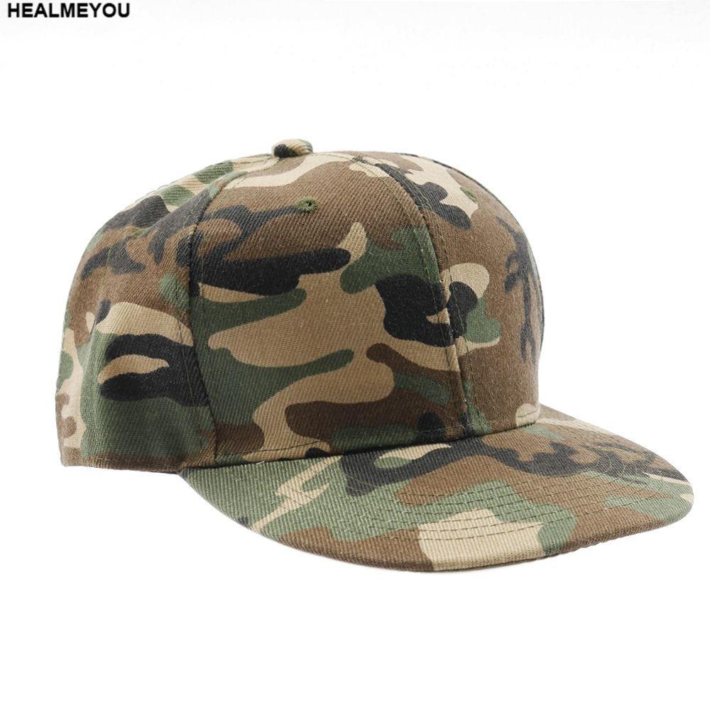 New Men Women Camouflage Half Mesh Army Baseball Cap Desert Jungle Snap Camo Hat