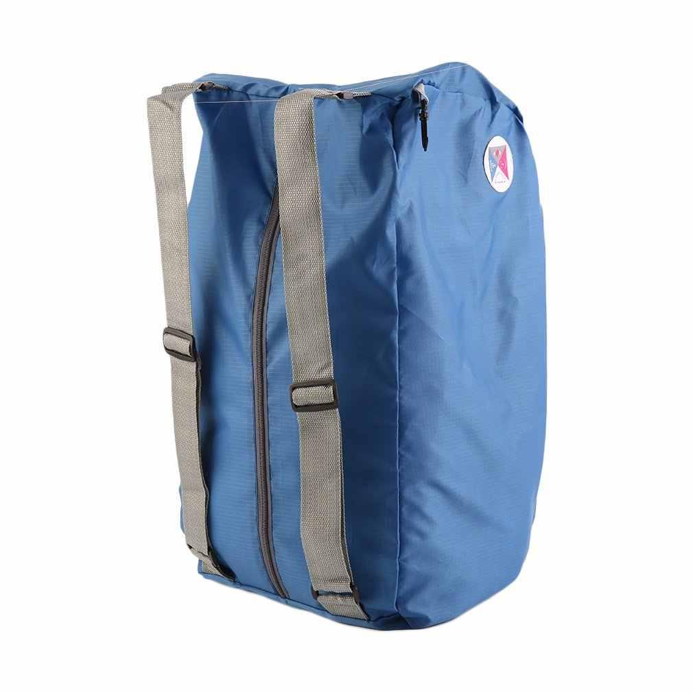 Мужская и женская уличная сумка на плечо, складной цветной спортивный рюкзак на молнии, складная сумка для путешествий, рюкзак для шоппинга