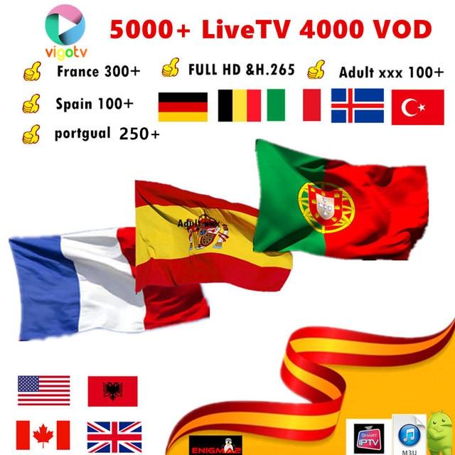 Vigotv 5000 LiveTV 1 year Europe Arabic IPTV French begluim UK Spain Portugal Dutch USA canada IPTV Support Android m3u enigma2