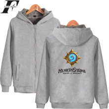 LUCKYFRIDAYF Hearthstone Thicken Hoodies Zipper Game Anime Hoodie Winter Women/Men Print Sweatshirt Casual Clothes Plus Size цена