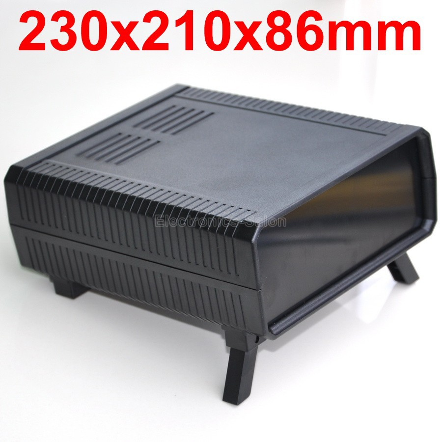 HQ Instrumentation ABS Project Enclosure Box Case,Black, 230x210x86mm.