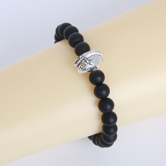 New Brand Luxury Men Bracelet Charm Bracelet With Natural Stone Bead Bracelet For Men Jewelry Gift