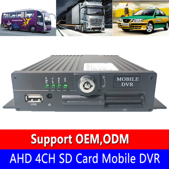 Can upgrade deep docking 4G remote yuntai center monitoring train/bus AHD 4CH SD card Mobile DVR factory wholesale