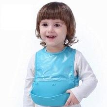 Adjustable Baby Bibs EVA Plastic Waterproof Lunch Feeding Bibs Baby Cartoon Feeding Cloth Children Apron Baby Accessories Stuff