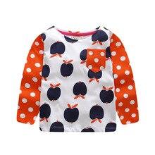 Детская осенняя хлопковая, розничная, бутик, реглан, топы с длинными рукавами для маленьких девочек