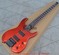 free shipping new headless electric bass guitar in red with basswood body BJF 63