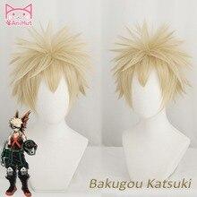 Peruca para cosplay de my hero academia, peruca para cosplay de bakugo katsuki, boku no hero academia