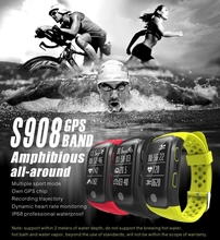 GPS Smart Band Bluetooth 0.96 »OLED IP68 Профессиональный Водонепроницаемый смарт-браслет сердечного ритма Мониторы спортивный браслет шагомер