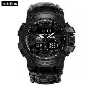 Image 4 - Addies G Shock Mannen Militaire Horloge Met Kompas 3Bar Waterdichte Horloges Digitale Beweging Outdoor Fashion Casual Sport Horloge Mannen