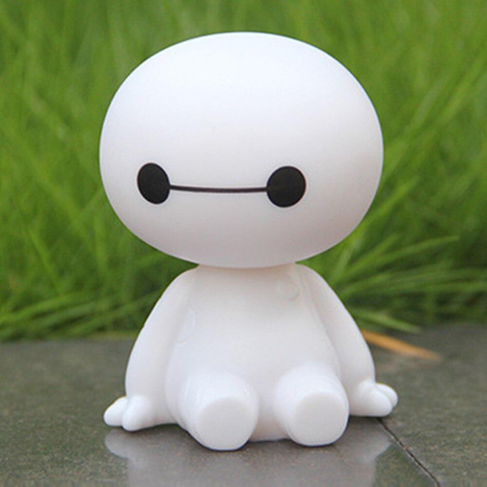 Cartoon Kunststoff Baymax Roboter Schütteln Kopf Figur Auto Ornamente Auto Innen Dekorationen Big Hero Puppe Spielzeug Ornament Zubehör