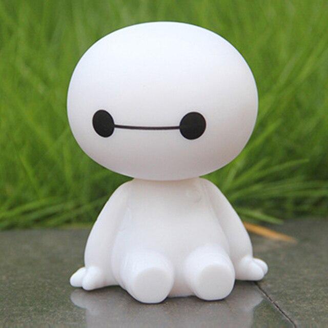 Del fumetto di Plastica Baymax Robot Scuotere La Testa Figura Ornamenti Auto Auto Decorazioni Interne Grande Hero Giocattoli Bambola Ornamento Accessori