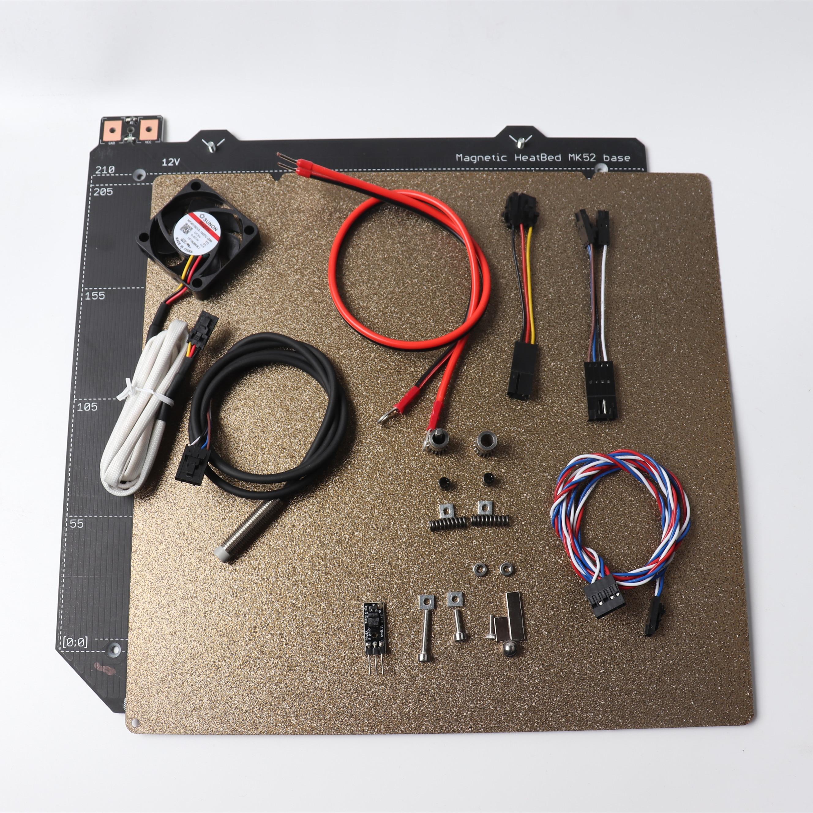 Clonado Prusa i3 MK2/S para kit de atualização com MK52 MK2.5S 12 V heatbed, sunon v2 5 V fã, Pó texturizada folha PEI, PINDA V2 sonda