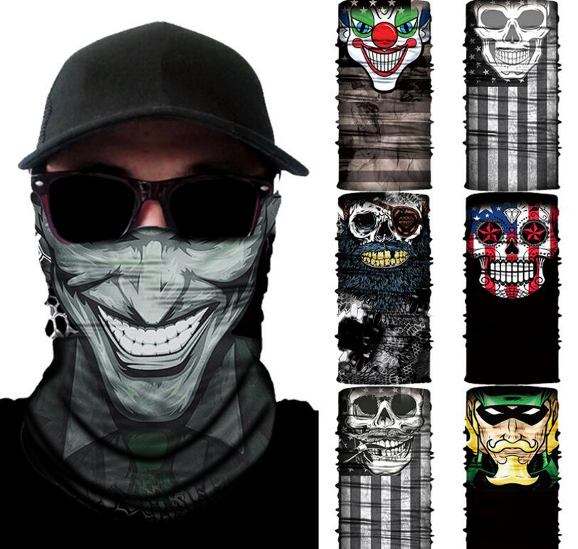 3d Skull Magic Halloween Mask Men Digital Printing Sunscreen Scarf Masks Mask For Men And Women Yf3 Men's Accessories
