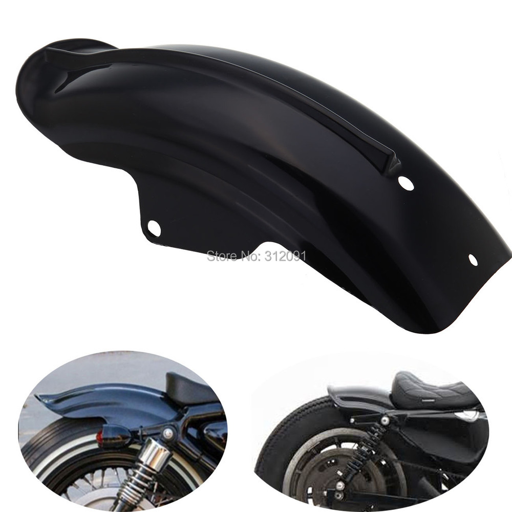 (Ship from Germany) Rear Mud guard Fender For Harley Sportster 883 883R 1200 XL 1994-2003 Chopper black silver motorcycle superior rear mudguard fender accessory for 1994 2003 harley sportster 883 883r 1200