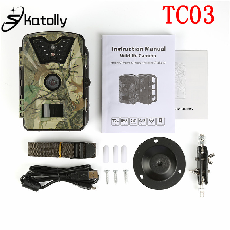 Skatolly TC03 0.5s Camouflage Hunting Camera Wildview Covert Trail Cameras Infrared Detection 12MP Hunting Camera 1080P Shot алмазная пила кратон tc 10
