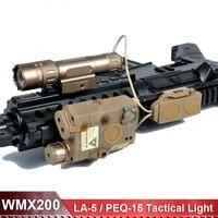 Страйкбол Тактический PEQ зеленый лазерный LA 5C блок II IR WMX200 Softair тактическое оружие Свет с дистанционным светом хвост переключатель EX424
