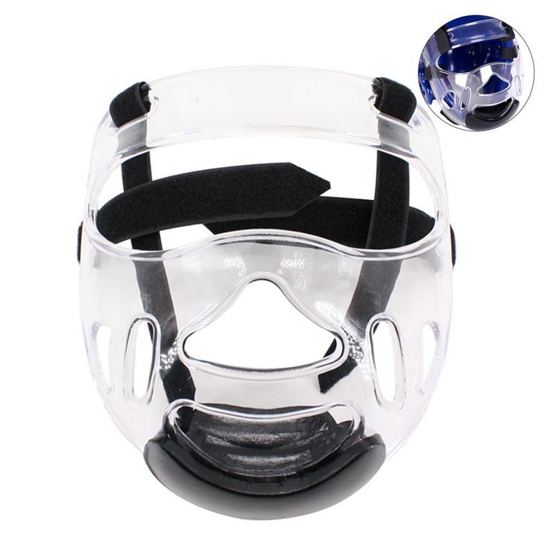 Men And Women Sports Clear Face Shield Head Shield Removable Taekwondo Helmet Mask Ultralight Protective Gear Helmet Mask