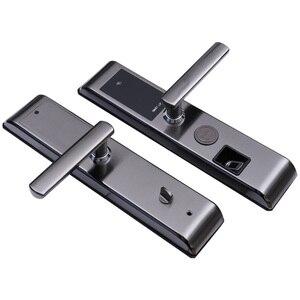 Image 2 - 無線 lan 指紋ドアロック盗難防止ドアロックスマートロックデジタルパスワード rfid アプリによるロック解除、コード、カード、キー