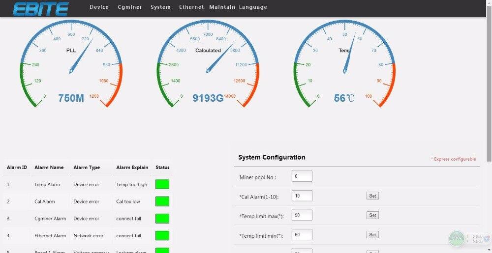 Купить с кэшбэком KUANGCHENG Ebit E9 Plus 9T  Bitcoin Miner USED 14nm Asic Miner  Btc Miner Better Than Antminer S7 Equivalent to Antminer S9