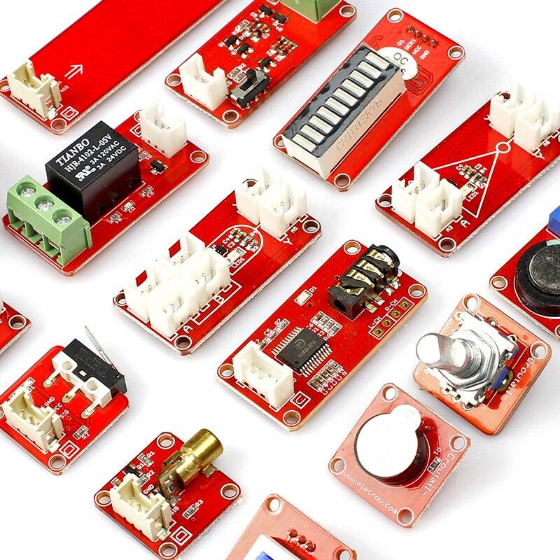 Kit d'apprentissage Elecrow Crowtail entrée et sortie fonction transducteur de commutation Modules bricolage Kit de combinaison pour la programmation Arduino - 4