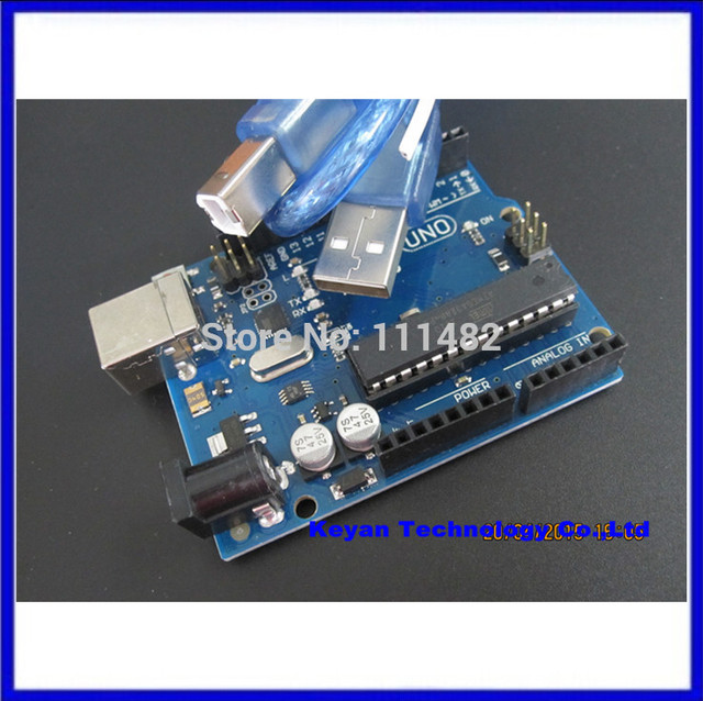 5PCS .UNO R3 MEGA328P ATMEGA16U2 Board  (with LOGO)  +   5PCS ,USB Cable