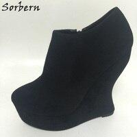 Sorbern необычный стиль каблуки клинья обувь на платформе женские каблуки 16 см роскошные дизайнерские каблуки Женская Теплая Повседневная обу