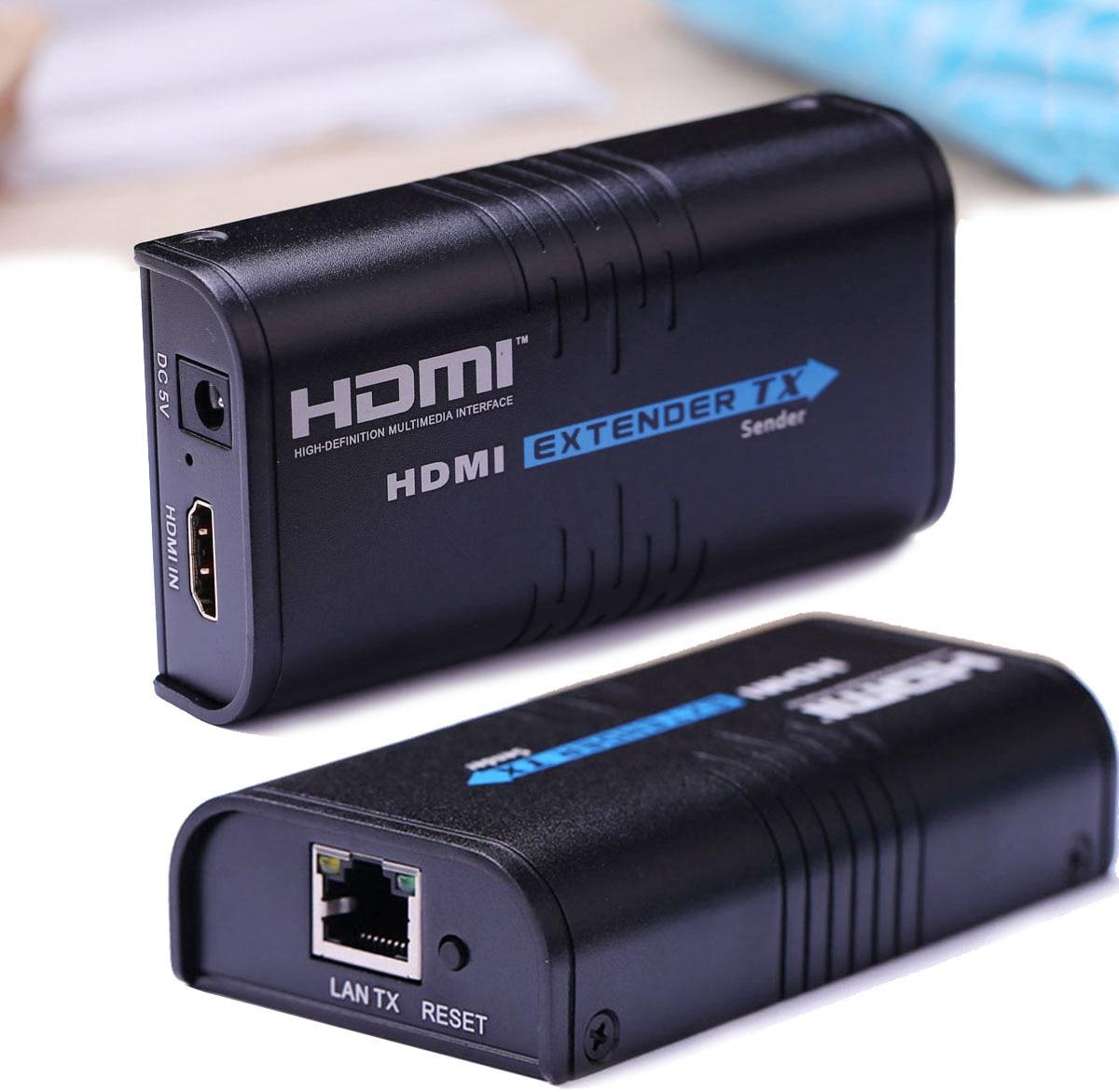 Extension HDMI par IP/TCP UTP/STP CAT5e CAT6 Rj45 LAN câble réseau Ethernet 1080 p 120 m Extension HDMI séparateur récepteur DVD vers TV