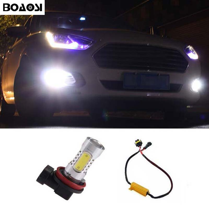 BOAOSI For BMW Mercedes-Benz Audi A3 A4 A5 S5 A6 Q5 Q7 TT H11 LED Fog Light Bulbs No Error 1pcs