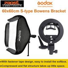 Godox Studio Photo Flash Softbox Lumière Kit 60×60 cm/24 «* 24» + S Type Support Bowens Mont Speedlite Soft Box 60×60 cm Ensemble
