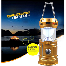 ABS Solar Power Camping Light LED Lantern Flashlights Collapsible Outdoor Hiking Emergencies Waterproof Handheld