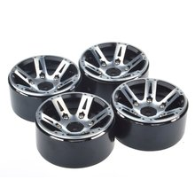 4pcs RC Rock Crawler 1.9 Inch Beadlock Wheel Rims for 1/10 Traxxas TRX4 Axial SCX10 D90 CC10 TF3