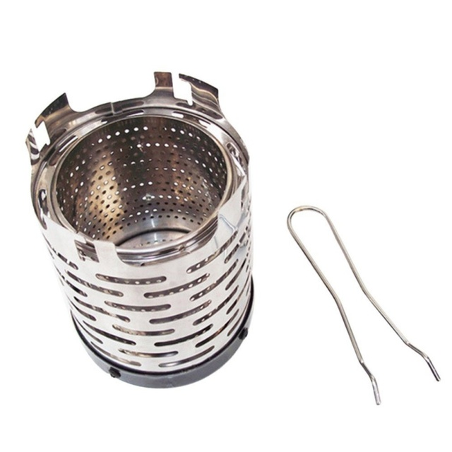 Winter Mini Heating Stove Camping Stove Portable Stainless Steel Wood Burning Stove Camping Equipment Hiking Traveling Picnic3