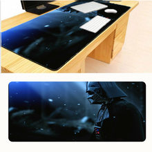 Mairuige Star War Darth Vader Print Locking Edge Rubber Large Mousepads for Cs Go Mat DIY Design Computer Gaming Mouse Pad(China)