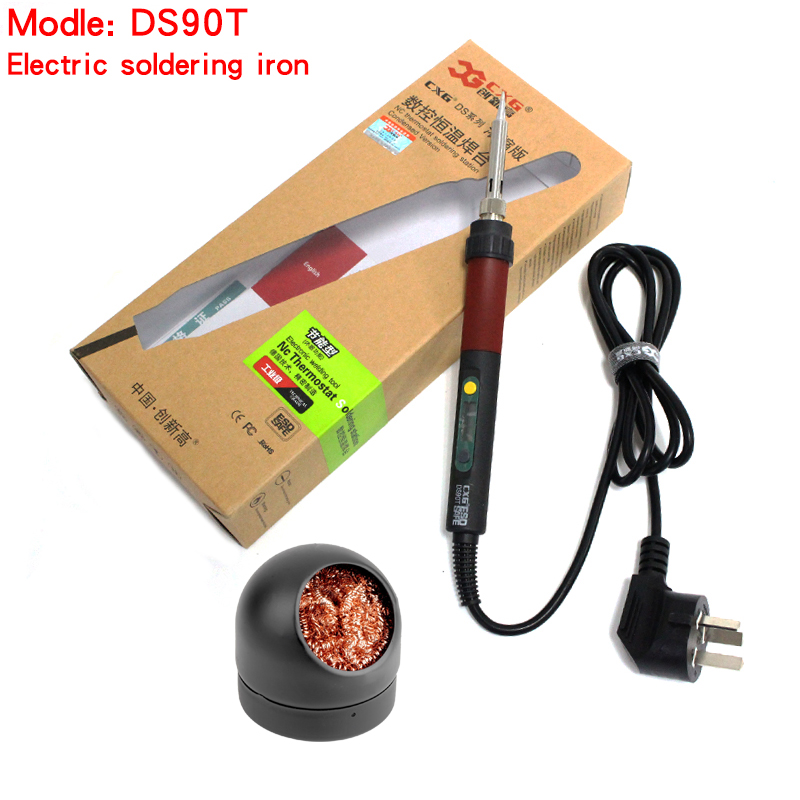 free shipping CXG DS90T 220V 90W Soldering Iron heating welding electric soldering iron the same as GS90D with Cleaning Steel