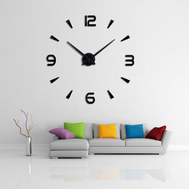 2019 new wall clock quartz watch reloj de pared modern design large decorative clocks Europe acrylic stickers living room klok