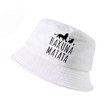 Новинка k pop модная кепка HAKUNA MATATA для мужчин wo для мужчин Панама для охоты на открытом воздухе Панама рыболовная Кепка Панама для мужчин