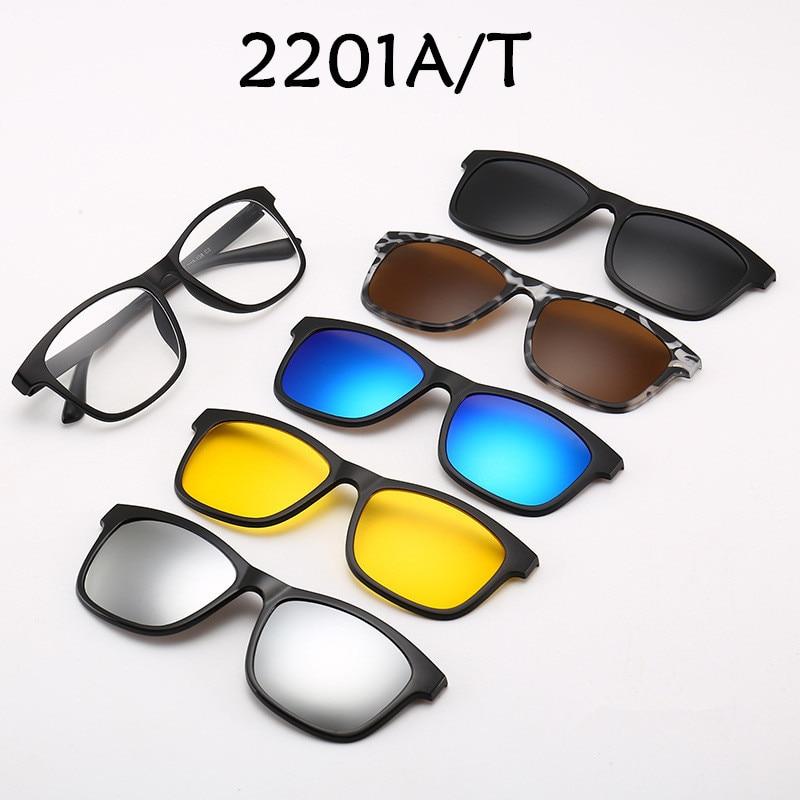 ef8139e45 5 + 1 Conjunto de gafas de sol polarizadas con espejo para hombre y mujer  con Clip para hacer prescripción miopía hiperopía astigmatismo regalo para  hombre ...