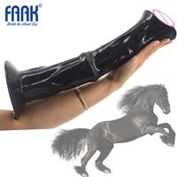 FAAK 35.5cm Long Realistic Horse Dildo Big Thick Animal Penis Sex Toys For Woman Vaginal Butt Massage Masturbation Huge Cow Dick