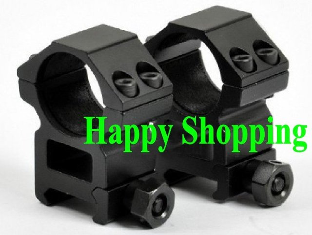 1 pair High Profile 1 inch Rifle Scope 25.4mm Rings for Weaver 20mm rail