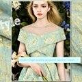 Largura 140 cm * 100 cm tecido jacquard tapeçaria de importação de alta qualidade 2017 moda outono e inverno tecidos de alta costura
