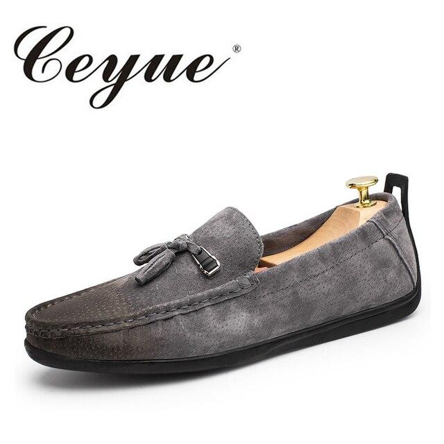 Hommes Chaussures en Cuir Automne Mocassins Mocassins et Slip-Ons Chaussures de Marche pour Les Chaussures de Conduite Décontractée (Color : Black, Taille : 44)